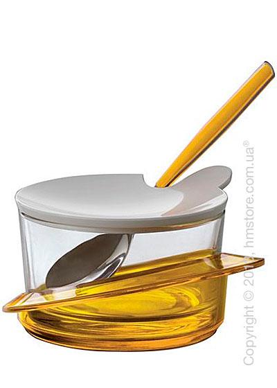 Емкость для пармезана / сахарница с ложкой Bugatti Glamour Parmesan Cheese Bowl, Желтая