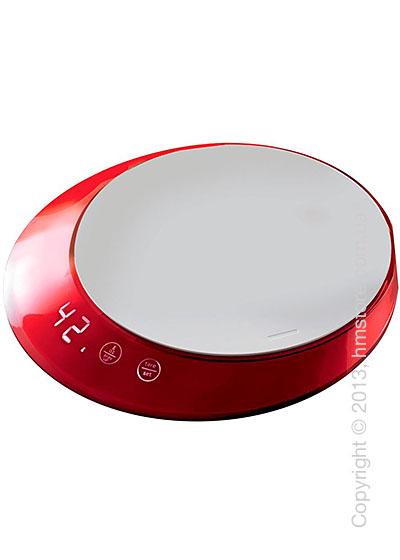 Весы кухонные с таймером Bugatti Glamour Scale and timer, Red