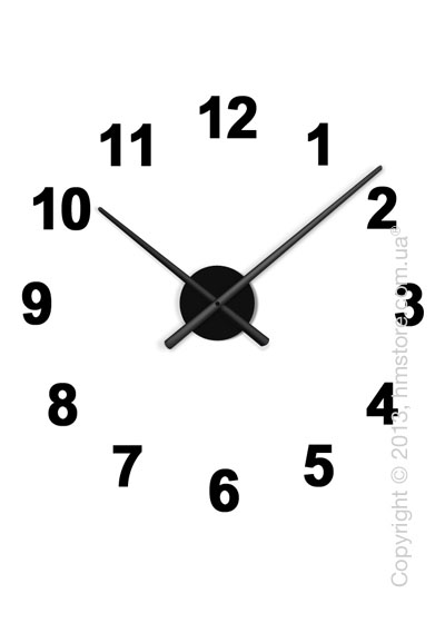 Часы настенные Nomon Oj Mini 12 Numbers Pack Wall Clock, Black