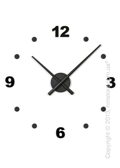 Часы настенные Nomon Oj Mini 4 Numbers Pack Wall Clock, Black