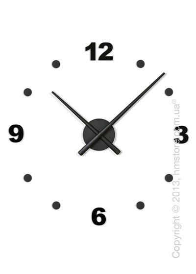 Часы настенные Nomon Oj Mini 4 Numbers Pack Wall Clock, Black