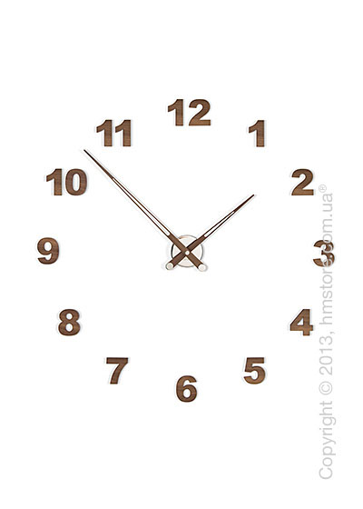 Часы настенные Nomon Axioma N 12 Numbers Pack Wall Clock, Walnut