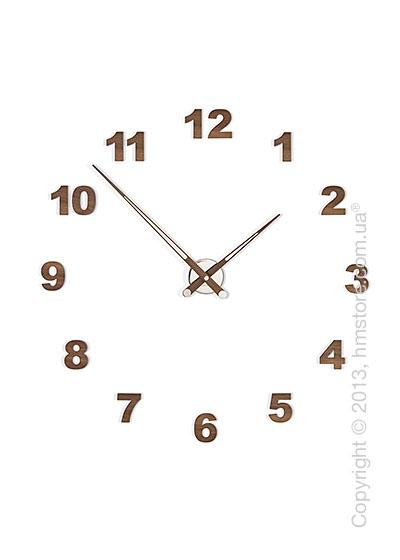 Часы настенные Nomon Axioma N 12 Numbers Pack Wall Clock, Walnut