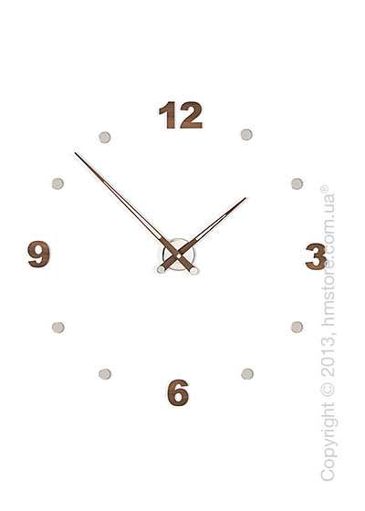 Часы настенные Nomon Axioma N 4 Numbers Pack Wall Clock, Walnut