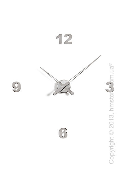 Часы настенные Nomon Axioma I 4 Numbers Pack Wall Clock, Steel