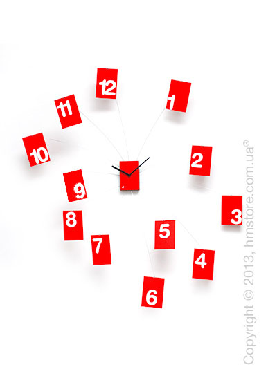 Часы настенные Progetti Iltempovola Wall Clock, Red