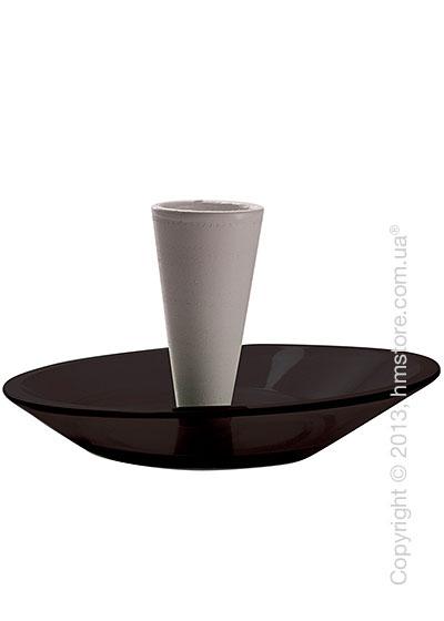 Набор емкости для зубочисток и тарелки для закусок Bugatti Glamour Snack Plates and Toothpick Holder, Черный