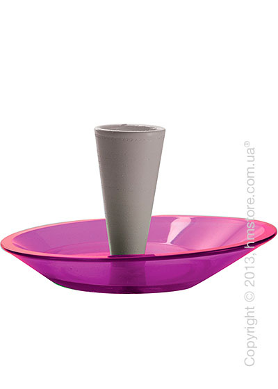 Набор емкости для зубочисток и тарелки для закусок Bugatti Glamour Snack Plates and Toothpick Holder, Сиреневый