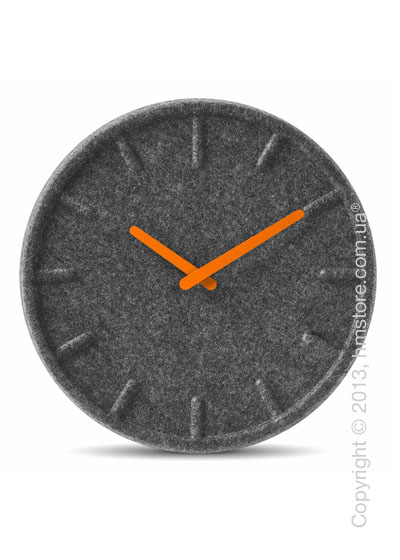 Часы настенные LEFF Amsterdam wall clock felt35 orange hands
