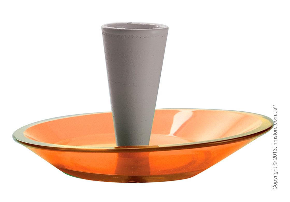 Набор емкости для зубочисток и тарелки для закусок Bugatti Glamour Snack Plates and Toothpick Holder, Оранжевый