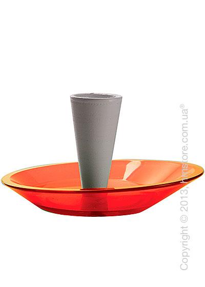 Набор емкости для зубочисток и тарелки для закусок Bugatti Glamour Snack Plates and Toothpick Holder, Красный