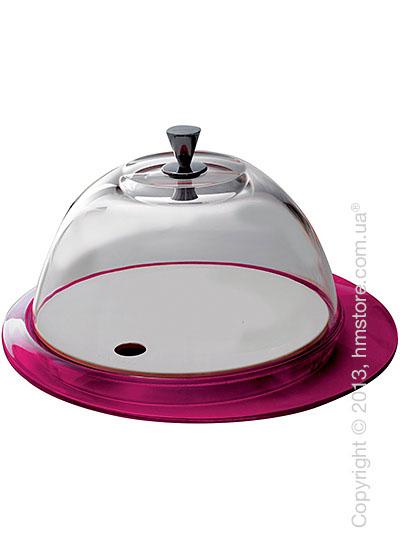 Блюдо с крышкой Bugatti Glamour Cake Tray and Food Tray with Glass Cover, Сиреневое