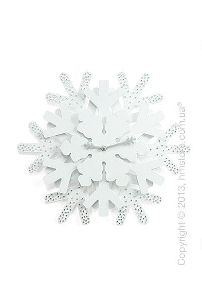 Часы настенные Progetti Snowflake Strass Wall Clock