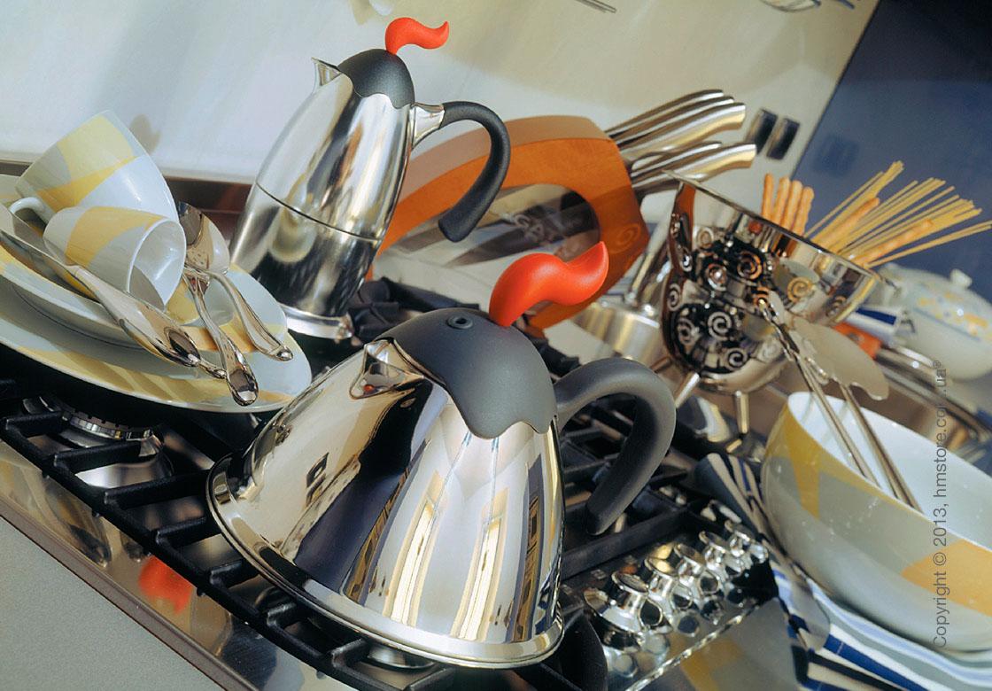 Кофеварка Bugatti Vulcano на 1 чашку, Хром