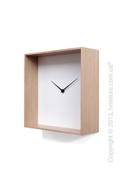 Часы настенные Progetti Cube 01 Wall Clock, Light Wood