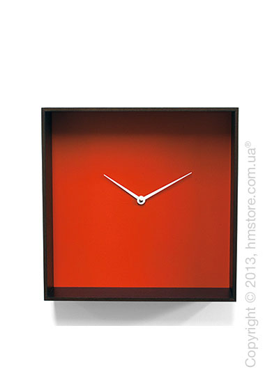Часы настенные Progetti Cube 01 Wall Clock, Black and Orange