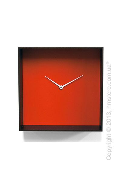 Часы настенные Progetti Cube 01 Wall Clock, Black and Orange