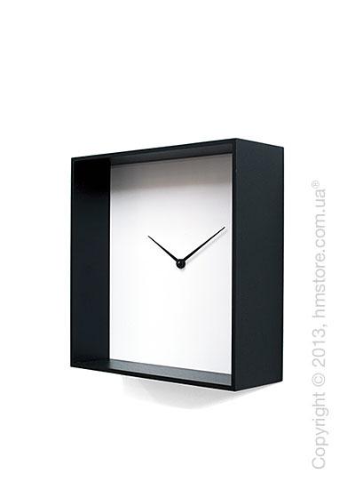 Часы настенные Progetti Cube 01 Wall Clock, Black and White