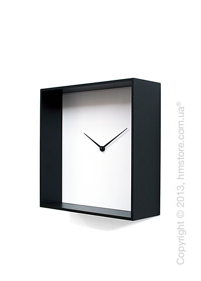Часы настенные Progetti Cube 01 Wall Clock, Black and White