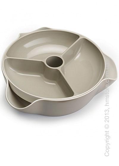 Миски для закусок с отверстием под шпажки Joseph Joseph Double Dish Large, Светло-серые