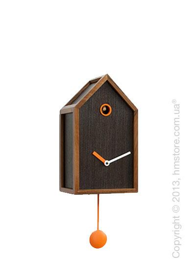 Часы настенные Progetti Mr. Orange Wall Clock, Dark Wood