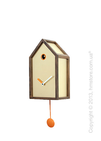 Часы настенные Progetti Mr. Orange Wall Clock, Light Wood