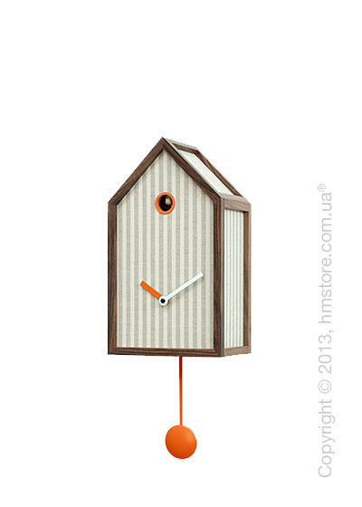 Часы настенные Progetti Mr. Orange Wall Clock, Stripe