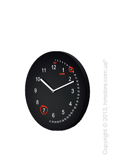 Часы настенные Progetti Save the date Wall Clock, Black