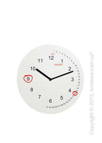 Часы настенные Progetti Save the date Wall Clock, White