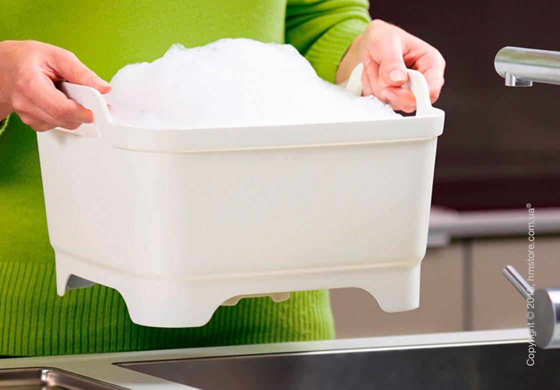 Емкость для мытья посуды Joseph Joseph Wash & Drain, Белая
