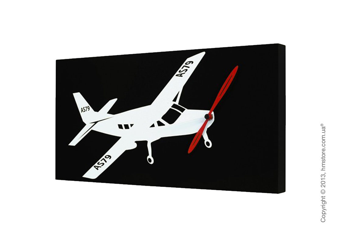 Часы настенные Progetti Flyer Cessna Wall Clock, Black