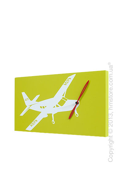 Часы настенные Progetti Flyer Cessna Wall Clock, Green
