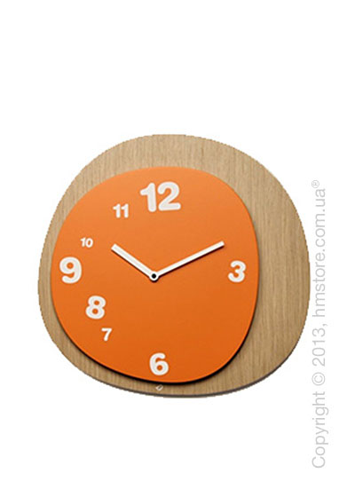 Часы настенные Progetti Woodie Wall Clock, Orange