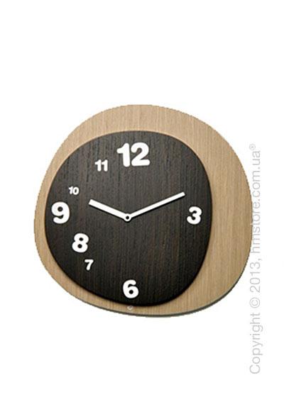 Часы настенные Progetti Woodie Wall Clock, Dark