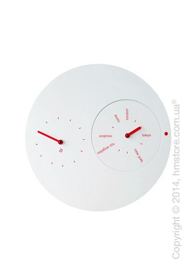 Часы настенные Progetti Jetlag Wall Clock, Red