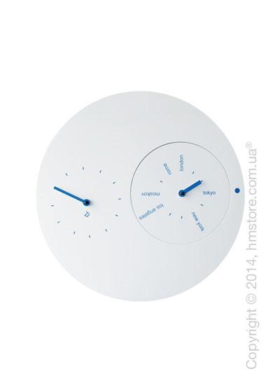 Часы настенные Progetti Jetlag Wall Clock, Blue