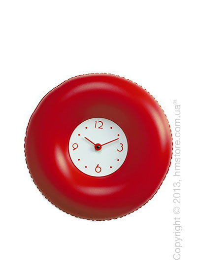 Часы настенные Progetti Salvatempo 2 Wall Clock, Red