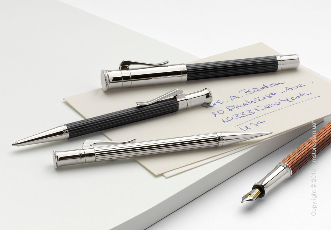Ручка перьевая Graf von Faber-Castell серия Classic, коллекция Grenadilla, Finely Fluted