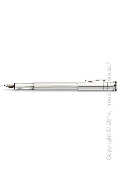 Ручка перьевая Graf von Faber-Castell серия Classic, коллекция Sterling Silver, Finely Fluted
