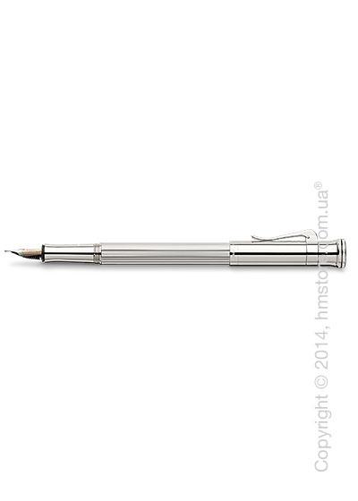 Ручка перьевая Graf von Faber-Castell серия Classic, коллекция Sterling Silver, Finely Fluted