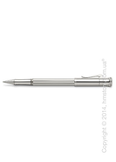 Ручка роллер Graf von Faber-Castell серия Classic, коллекция Sterling Silver, Finely Fluted