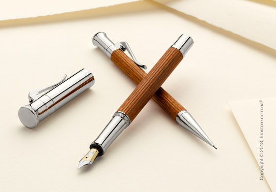 Ручка роллер Graf von Faber-Castell серия Classic, коллекция Grenadilla, Finely Fluted