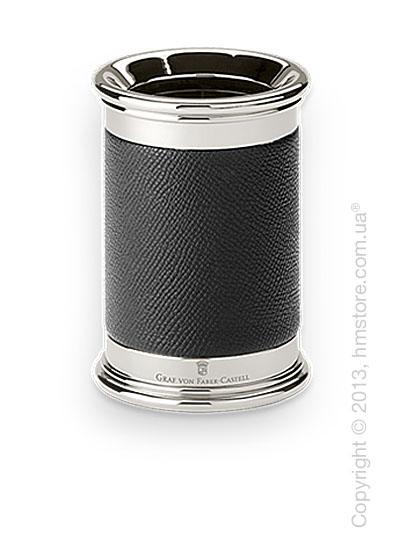 Подставка для ручек круглой формы Graf von Faber-Castell, Black Grained Leather
