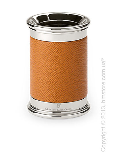 Подставка для ручек круглой формы Graf von Faber-Castell, Cognac Grained Leather