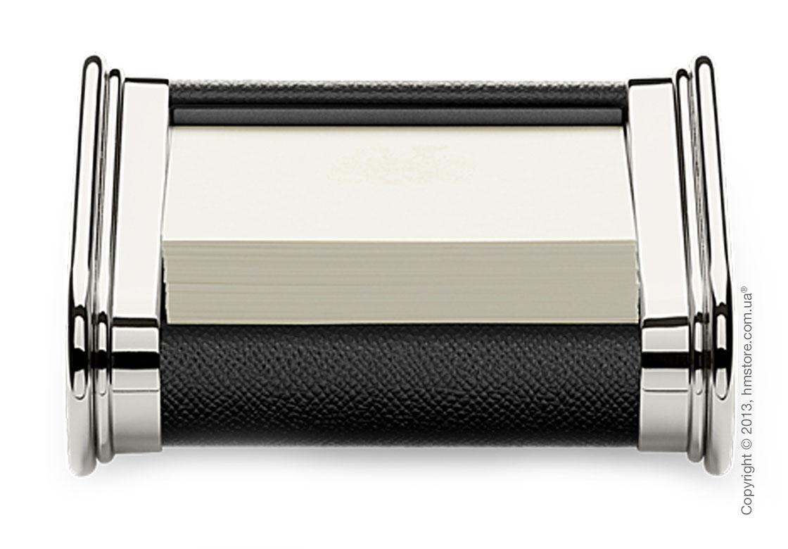 Подставка для заметок Graf von Faber-Castell, Black Grained Leather