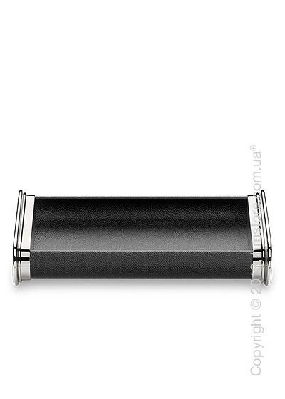 Настольный пенал для ручек Graf von Faber-Castell Pen Tray, Black Grained Leather