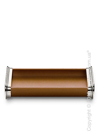 Настольный пенал для ручек Graf von Faber-Castell Pen Tray, Brown Grained Leather