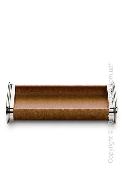 Настольный пенал для ручек Graf von Faber-Castell Pen Tray, Cognac Grained Leather