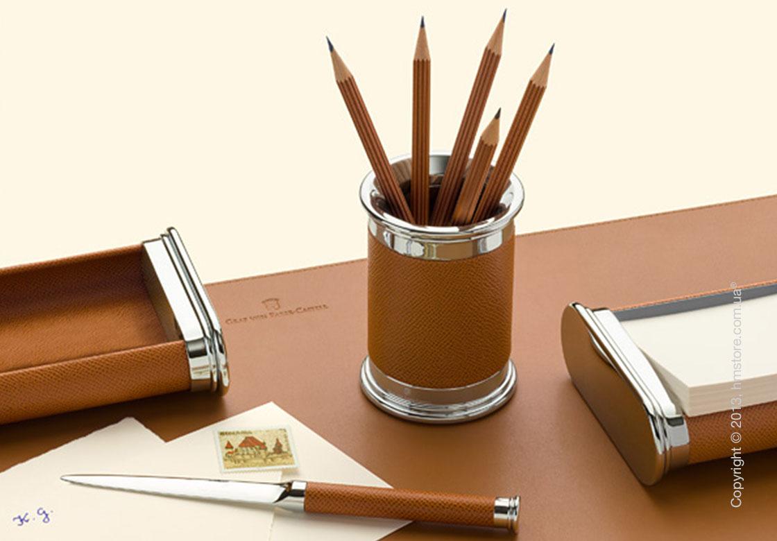 Настольный пенал для ручек Graf von Faber-Castell Tableau Pen Tray, Brown Alder Wood