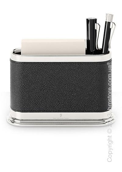 Подставка для ручек овальной формы Graf von Faber-Castell, Black Grained Leather